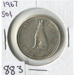 FIFTY CENT COIN (CANADIAN WOLF 1867-1967) *1967*