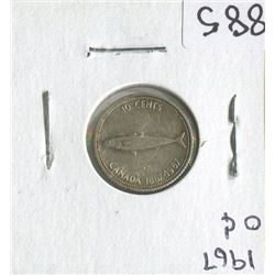 TEN CENT COIN (CANADIAN FISH 1867-1967)*1967*