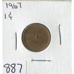ONE CENT COIN (CANADIAN BIRD 1867-1967) *1967*