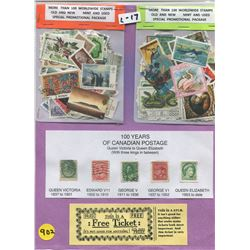LOT OF MORE THAN 200 WORLDWIDE STAMPS (NEW AND USED) *BONUS NOVELTY TICKET STUB*