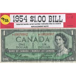 ONE DOLLAR BILL (CANADA) *1954*