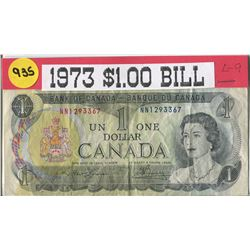 ONE DOLLAR BILL (CANADA) *1973*