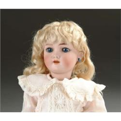 "14"" GERMAN BISQUE DOLL ON MECHANICAL WALKING BODY"