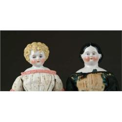LOT OF TWO GERMAN CHINA HEAD DOLLS