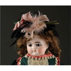 "22"" GERMAN CLOSE MOUTH TURNED SHOULDER HEAD DOLL"
