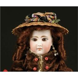"17"" CLOSE MOUTH GERMAN DOLL INCISED ""157"", ""9"""