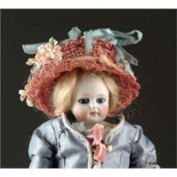 "12 1/2"" SOLID DOME CLOSE MOUTH BISQUE SHOULDER HEAD DOLL"