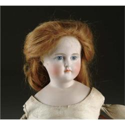"22"" SOLID DOME GLASS EYE CLOSE MOUTH TURNED SHOULDER HEAD DOLL"