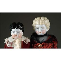LOT OF TWO CHINA HEAD DOLLS