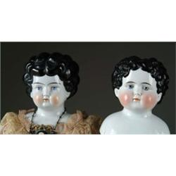 "LOT OF TWO: SINGLE HEAD CHINA AND 29"" CHINA HEAD DOLL"