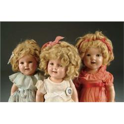 LOT OF THREE COMPOSITION SHIRLEY TEMPLE DOLLS
