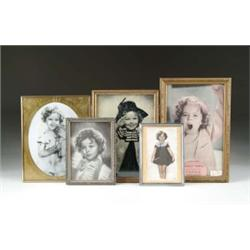 LOT OF FIVE FRAMED SHIRLEY TEMPLE PRINTS