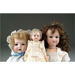 LOT OF 3 BISQUE HEAD DOLLS