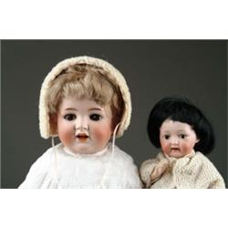 LOT OF TWO BISQUE HEAD BABY DOLLS