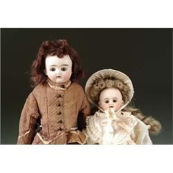 LOT OF TWO GERMAN BISQUE SHOULDER HEAD DOLLS