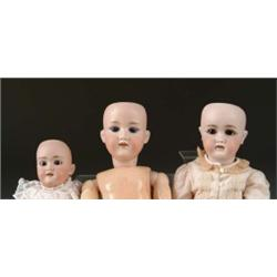 LOT OF THREE GERMAN DOLLS