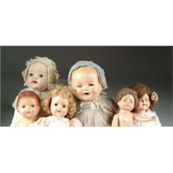 LOT OF SIX COMPOSITION DOLLS