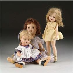 LOT OF THREE COMPOSITION DOLLS