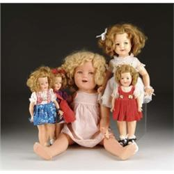 FIVE SHIRLEY TEMPLE DOLLS