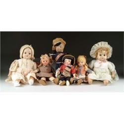 LOT OF TEN ASSORTED DOLLS