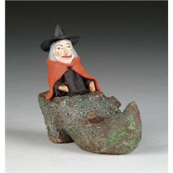 WITCH IN SHOE CANDY CONTAINER