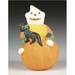 GOBLIN AND CAT ON PUMPKIN CONTAINER