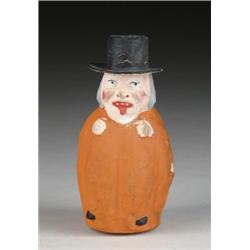 PUMPKIN BODY FIGURAL CANDY CONTAINER