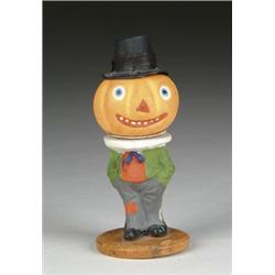 FIGURAL PUMPKIN CANDY CONTAINER