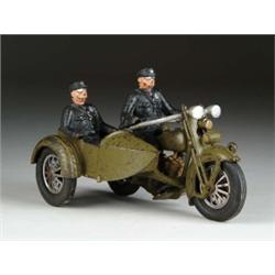 HUBLEY HARLEY CYCLE AND SIDE CAR