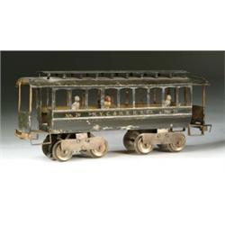 LIONEL #29 DAY COACH POWERED ON A #3 TROLLEY BODY