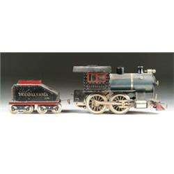 EARLY STANDARD GAUGE LIONEL STEAM OUTLINE #5 AND TENDER