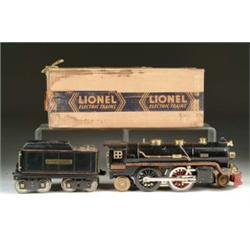 LIONEL STANDARD GAUGE #390E IN BLACK WITH BOXES