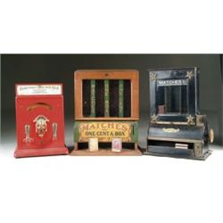 LOT OF THREE COIN-OP DISPENSERS