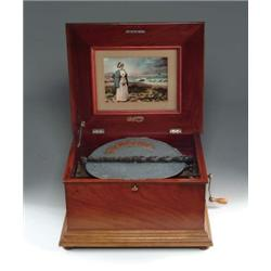 """RARE """"PERFECTION"""" 14"""" DISC PLAYING MUSIC BOX"""