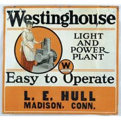 TIN WESTINGHOUSE ADVERTISING FOR GENERATOR