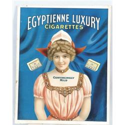 EGYPTIENNE LUXURY CIGARETTES ADVERTISEMENT
