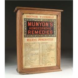 MUNYON'S HOMEOPATHIC REMEDIES DISPLAY CABINET