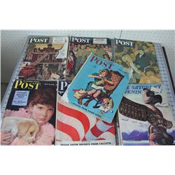 LOT OF 8  MAGAZINES (SATURDAY EVENING POST) *1940S & 50S*