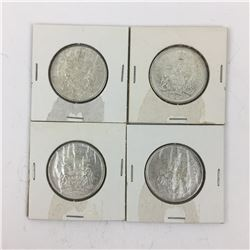 LOT OF 4 CANADIAN 50 CENT PIECES (SILVER) *1965*