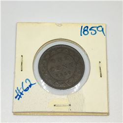 LARGE  PENNY (CANADIAN) *1859*