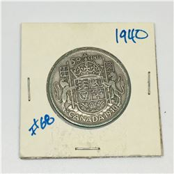 1940 50 CENT PIECE (CANADIAN) *SILVER *