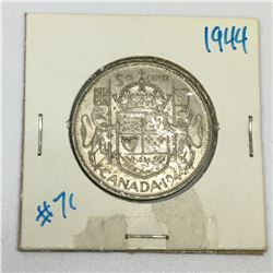 50 CENT PIECE (CANADIAN)*1944-SILVER*