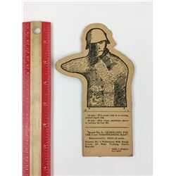 ORIGINAL ALLIED GERMAN SOLDIER PAPER MILITARY TRAINING TARGET (WWII)