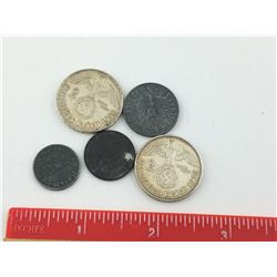 LOT OF GERMAN COINS (SOME SILVER) *WWII*