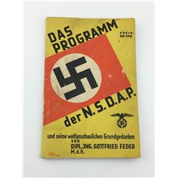 GERMAN  N.S.D.A. PROGRAM BOOK (64 PAGES) *1933*