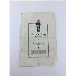 TORCH DAY PROGRAM (SASKATOON SK) *WWII 1941*