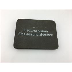 GERMAN TIN CASE FOR REPLACEMENT ANTI-GAS HOOD LENSES (WWII)