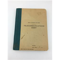 TELECOMMUNICATIONS DIARY (ROYAL CANADIAN AIR FORCE R.C.A.F )