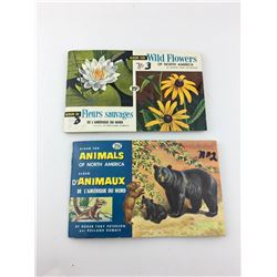 RED ROSE TEA CARD BOOKS, W/CARDS (WILD FLOWERS & NORTH AMERICAN ANIMALS)