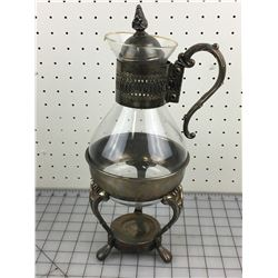 PLATED COFFEE POT & STAND (VINTAGE)